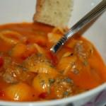 Krämig italiensk tomatsoppa