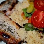 Örtkotlett med couscous och wok - propoints - nadjaskitchen- örter - kotlett - vvtillsammans - propoints - viktväktarna