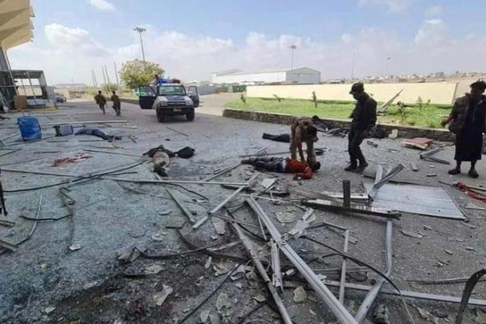مطار عدن انفجار اليمن