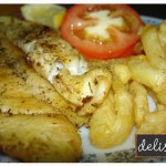 .nadelicious herbed fish & chips.