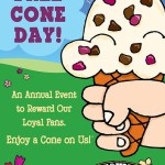 that thing about ben & jerry's free cone day!