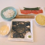Recipe: Rice Roll with Mozzarella Cheese and Salmon