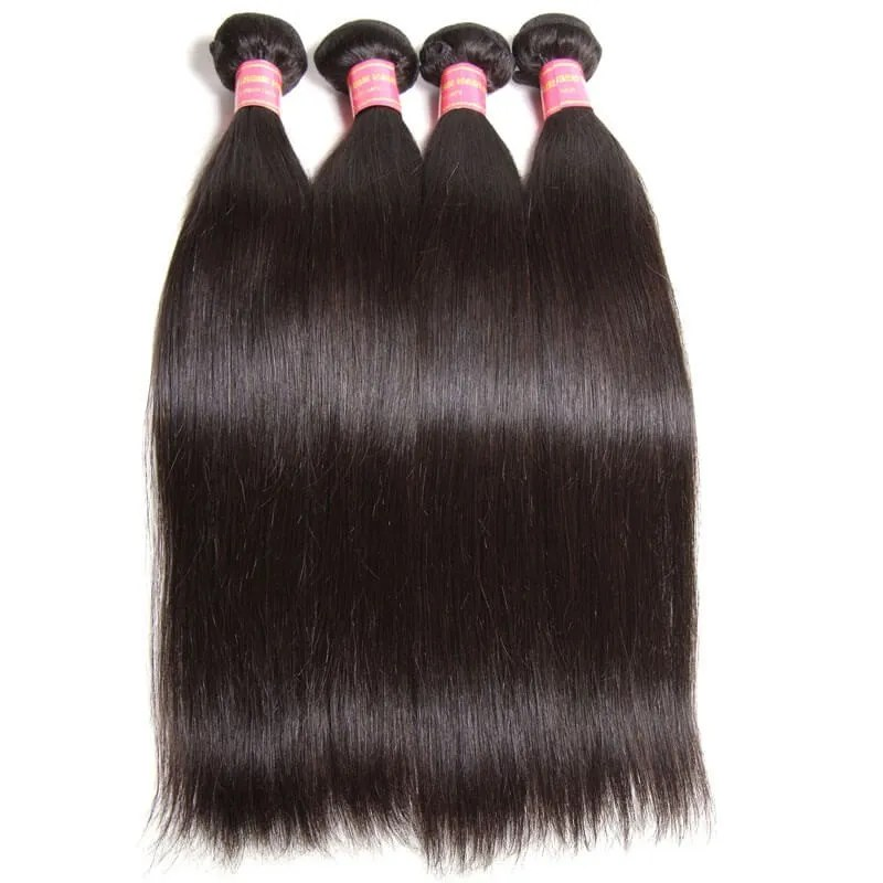 Nadula Cheap Indian Hair Weave Bundles 4 Pcs Thick