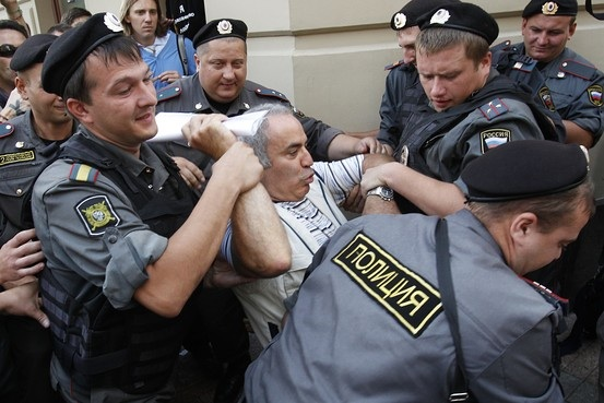Kasparov carried away