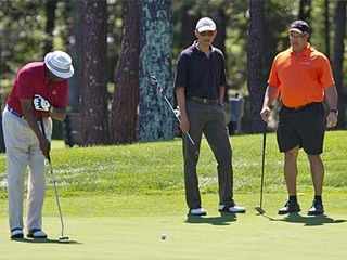 Obama golfing on Martha's Vineyard