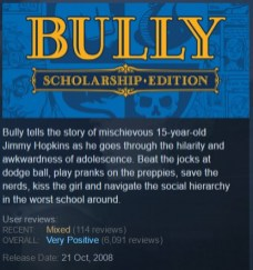Bully steam page