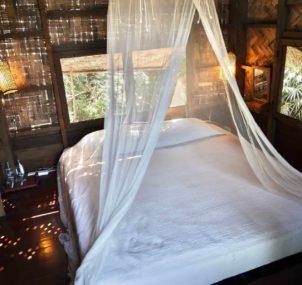 bedroom jungle hut