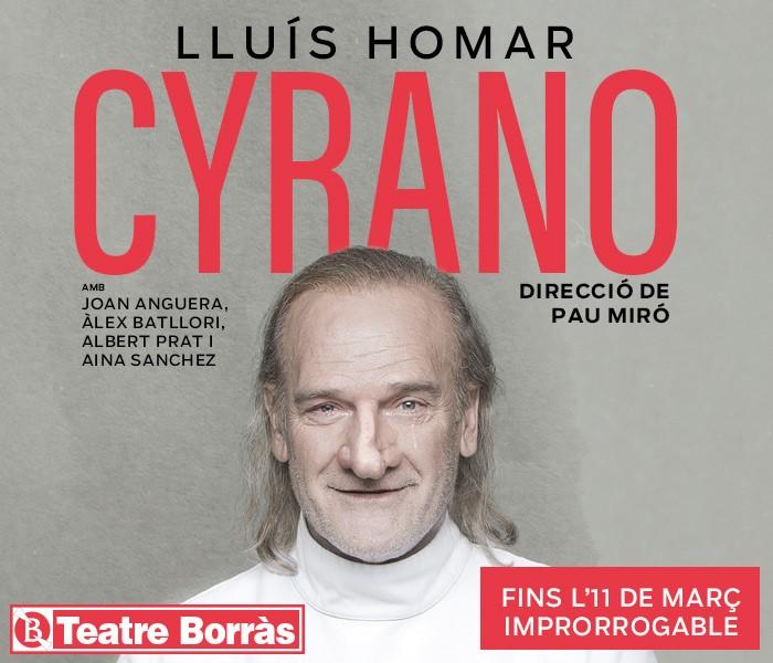 CYRANO DE EDMOND ROSTAND. DIRECCIÓN Pau Miró. Teatro Borrás Barcelona
