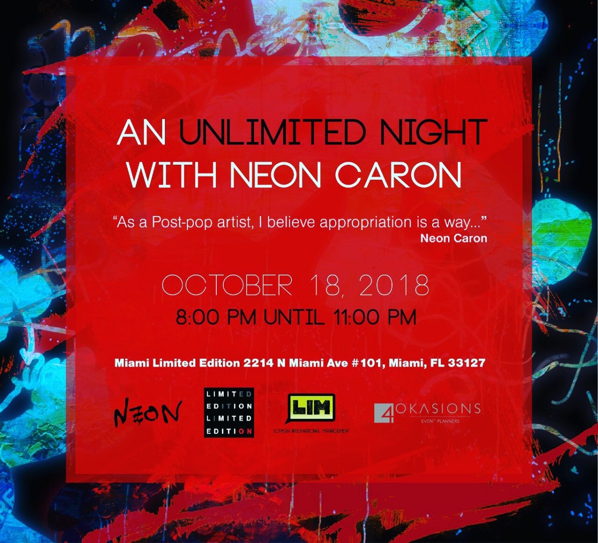AN UNLIMITED NIGHT WITH NEON CARON