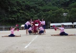 応援合戦ピンク