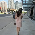Outfit of the day: Peplum for graduation