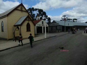 Soverign Hill, Ballarat - Sovereign Hill - Church, Fire Station & Bowling Saloon