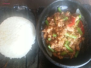 The Fat Cat Bistro - Minced Chicken with Basil & Jasmine Rice