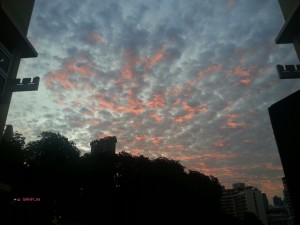 Views I saw in May/June 2014 In Singapore – Reddish Clouds