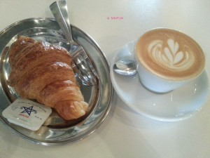 Peloton Coffee & Juice Bar - My Order, Croissant & Cappuccino