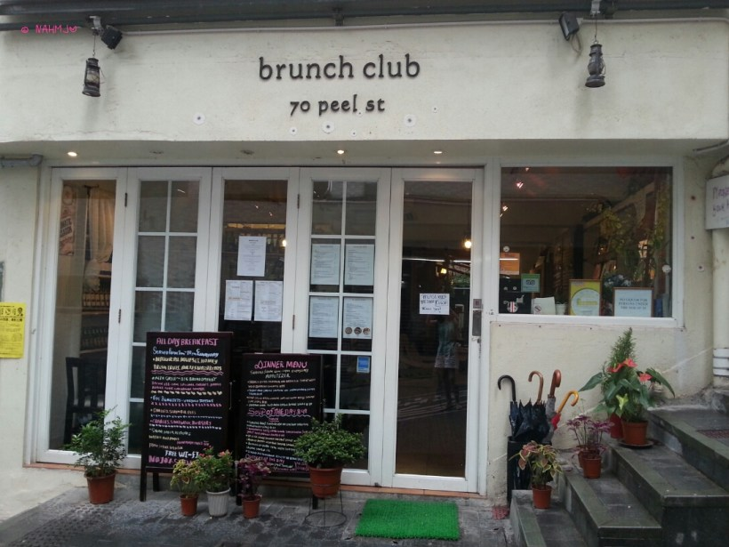 Day 1 Holiday In Hong Kong In July 2014 - Brunch Club - Cafe Front