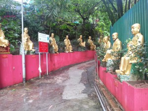 Day 1 In Hong Kong In July 2014 - Start of the Ten Thousand Buddhas Statues, Sha Tin