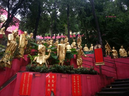 Day 1 In Hong Kong In July 2014 - On the way ... Ten Thousand Buddhas Statues, Sha Tin