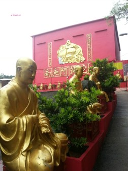 Day 1 In Hong Kong In July 2014 - Finally, you see the light of the tunnel ... Ten Thousand Buddhas Statues, Sha Tin