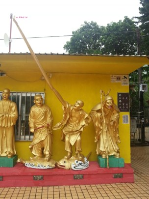 Day 1 In Hong Kong In July 2014 - More gold statue of Buddhas at Ten Thousand Buddhas Statues, Sha Tin