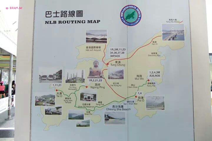 Day 3 In Hong Kong In July 2014 - Map of Lantau Island's places of interest