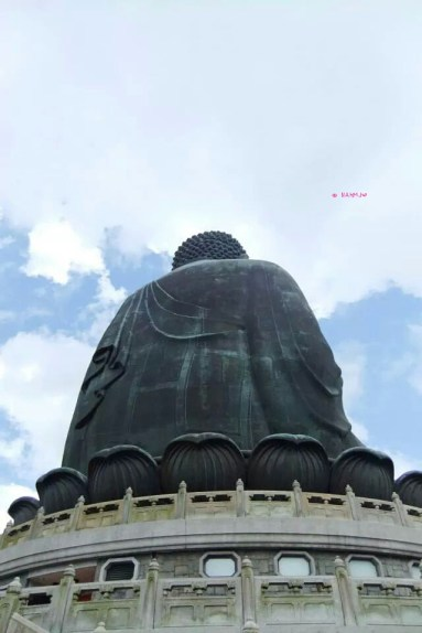 Day 3 Holiday In Hong Kong In July 2014 - Back View of Big Buddha