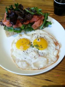 The Coffee Academics - My Breakfast, Smoked Salmon and Two Eggs Any Styled