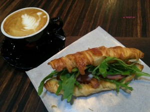 Rabbithole Coffee and Roaster - My Breakfast, Smoked Duck Croissant & Cappuccino