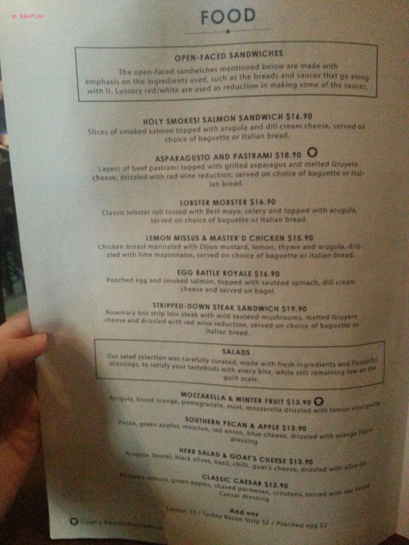And Why - Food Menu