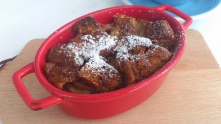 Crown Bakery & Cafe - Earl Pear Bread Pudding