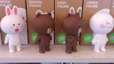 Meet Line Friends At 313@Somerset - Cony, Brown and Moon Figures