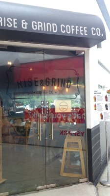 Rise & Grind Coffee Co Cafe - Entrance