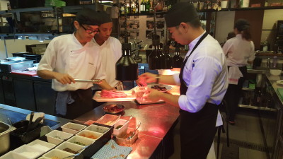 Ola Cocina Del Mar - Kitchen Tour, Plating Station