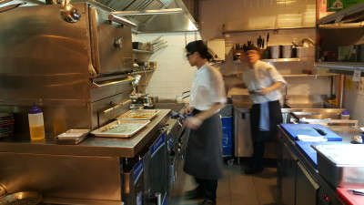 Ola Cocina Del Mar - Kitchen Tour, Grill Station