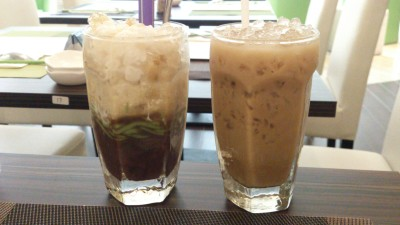 Pho Tai - Red Bean Cendol with Coconut Milk & Vietnamese Ice Coffee with Milk