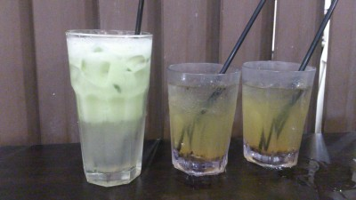Big Eater seafood restaurant 大食家海鲜 - Green Apple Juice with Plum and Lime Juice with Plum