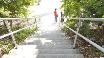 Ping Shan Heritage Trail - Stairs leading to Tsui Sing Lau Pagoda