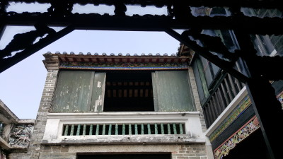 Ping Shan Heritage Trail - Ching Shu Hin (清書軒) looking at the second storey from a window