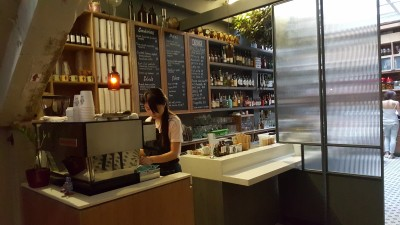Free The Robot Cafe - Counter