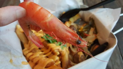 Cajun On Wheels At Pasar Bella Suntec City - Mixed Seafood Ocean Box with 1 side - Prawn