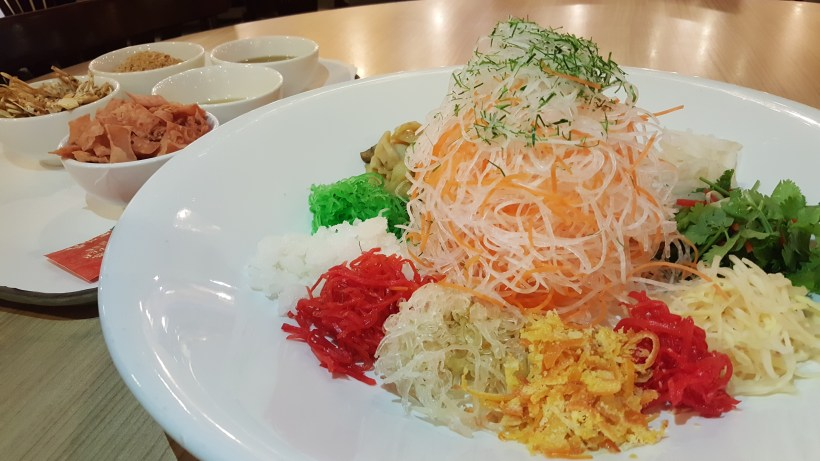 Fivefold Fortune Reunions at Spice Brasserie - Crispy Baby Crab Yu Sheng