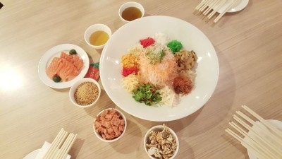 Fivefold Fortune Reunions at Spice Brasserie - Crispy Baby Crab Yu Sheng Overview