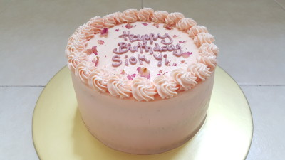 "Edith Patisserie - Lychee Rose Cake, 6"" ($45)"