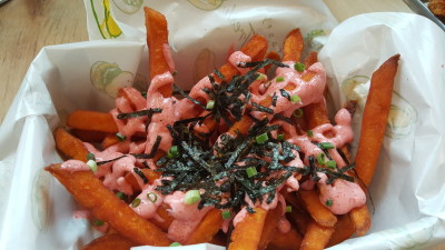 Rise And Grind Co On HollerOut App - Wall of Fries - Sweet Potato Fries ($10)