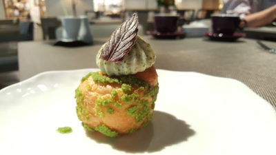 Angela May Food Chapter At The Hereen, Orchard, Singapore - Jasmine Mint Cucumber Choux ($4.80)