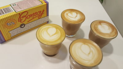 Bonsoy, Organic Soymilk By Nature Glory at Outram Park, Singapore - Coffee, Red Ginger and Tumeric with Bonsoy