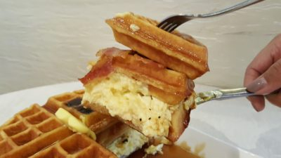 O Coffee Club New All Day Breakfast Menu In 2016 - All-Day Breakfast, Closed-up of the Waffle Stacker
