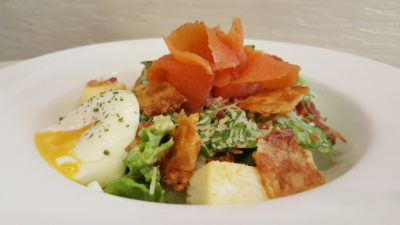 O Coffee Club New All Day Breakfast Menu In 2016 - All Time Favourites, Classic Caesar Salad with Cheese Crisp (Chicken Picante- $11.90 / Smoked Salmon - $12.90)