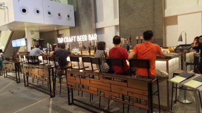 Tap Craft Beer Pairing At Capitol Galleria, City Hall, Singapore - Bar Counter Seats