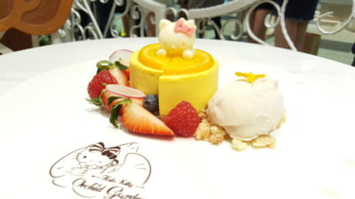 Hello Kitty Orchid Garden Cafe at Changi Airport Terminal 3, Singapore - The Cat In Paradise ($18.50)